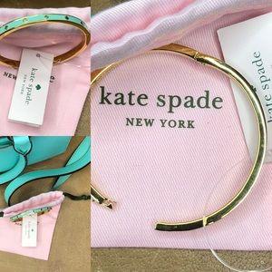 Kate spade Enamel Hinged Bangle in mint